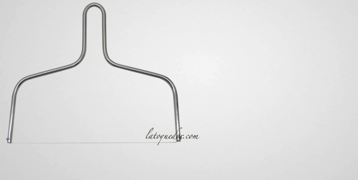 Lyre à fromage inox basse 23 cm