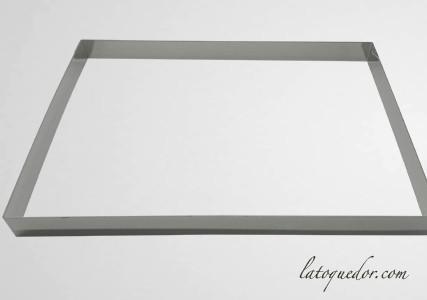 Cadre à pâtisserie inox rectangle H5 cm