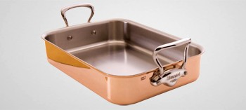 Plat à rôtir cuivre inox Mauviel M'150S