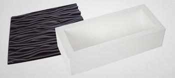 Moule à bûche silicone tapis faux bois